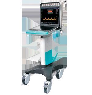 Stylowy wózek z regulacją wysokości ultrasonogafu